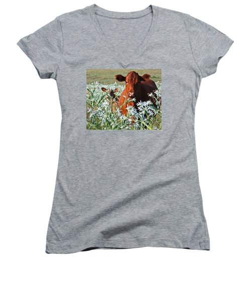 Cow Hide Women's V-Neck (Athletic Fit)