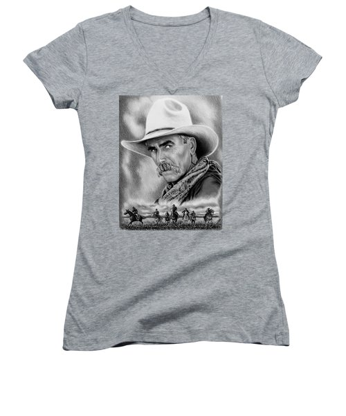 Cowboy Bw Women's V-Neck (Athletic Fit)
