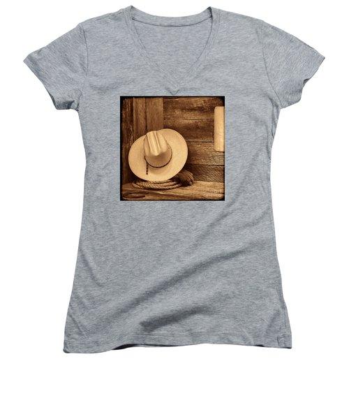 Cowboy Hat In Town Women's V-Neck