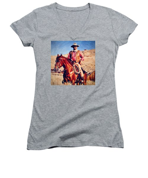 Cowboy John Wayne Women's V-Neck