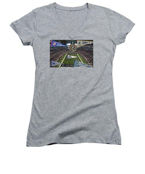 Cowboys Super Bowls Women's V-Neck T-Shirt