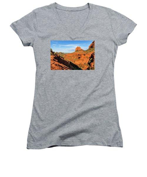 Cowpie 07-106 Women's V-Neck T-Shirt (Junior Cut) by Scott McAllister