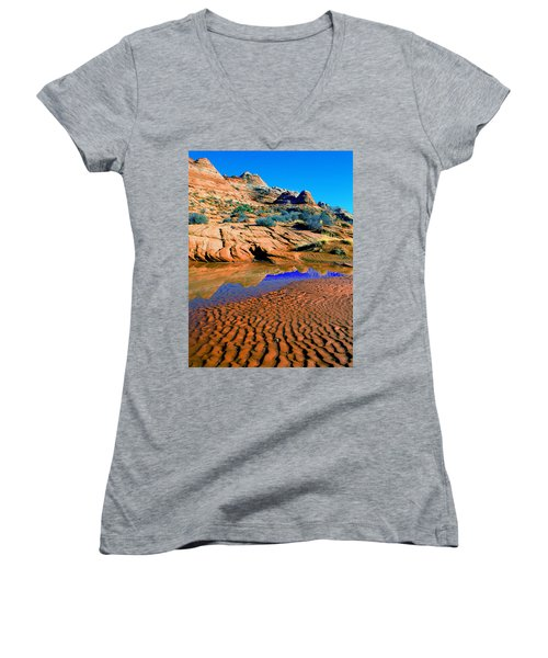 Coyote Buttes Reflection Women's V-Neck T-Shirt