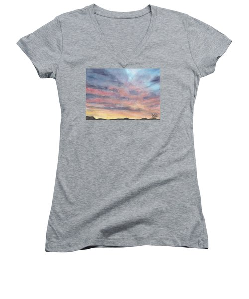 Coyote Sunset Women's V-Neck (Athletic Fit)