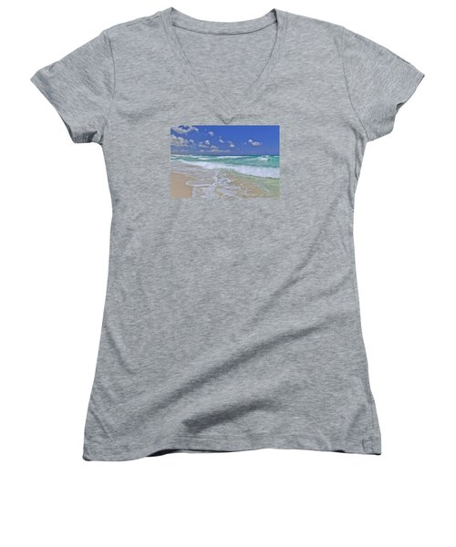 Cozumel Paradise Women's V-Neck T-Shirt (Junior Cut)