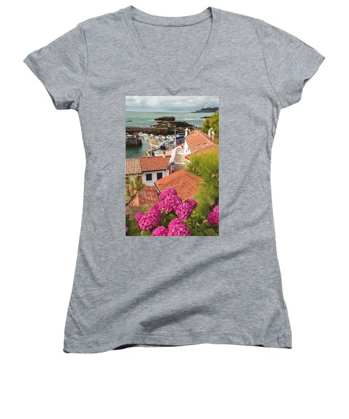 cozy tourist town on the Bay of Biscay Women's V-Neck T-Shirt
