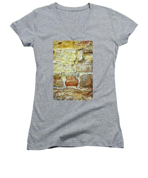 Cracked Women's V-Neck T-Shirt