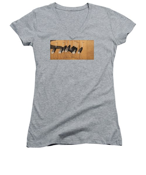 Cranes Women's V-Neck