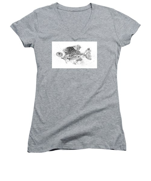 Crappie Abstract Women's V-Neck T-Shirt
