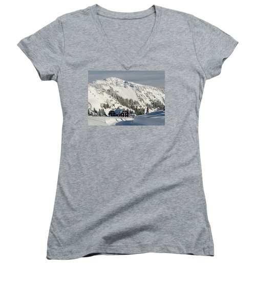 Crater Lake Lodge Women's V-Neck (Athletic Fit)