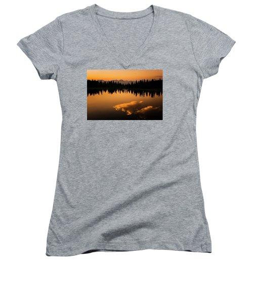 Crater Lake Sunset Women's V-Neck