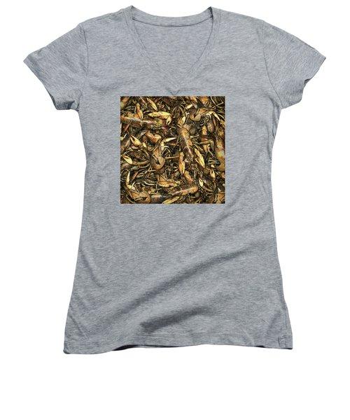Crayfish Women's V-Neck T-Shirt (Junior Cut)