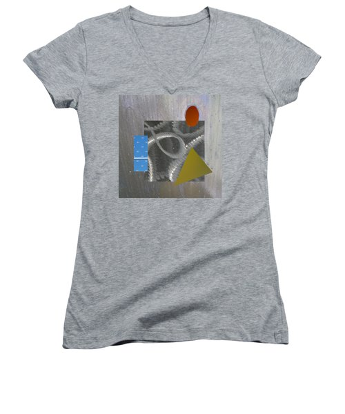 Crazy Eights Women's V-Neck T-Shirt (Junior Cut) by Paul Moss