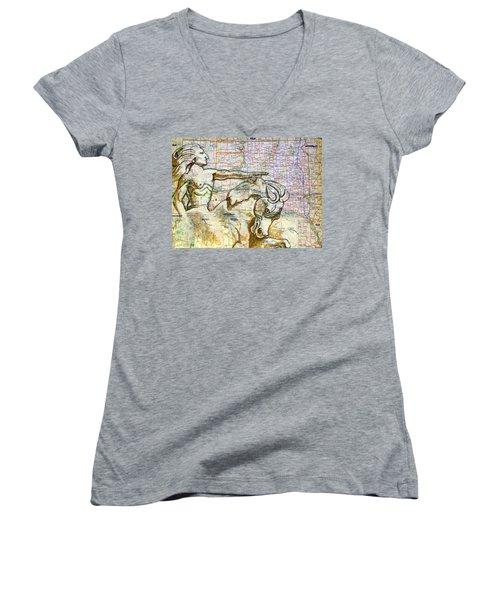 Crazy Horse Women's V-Neck (Athletic Fit)
