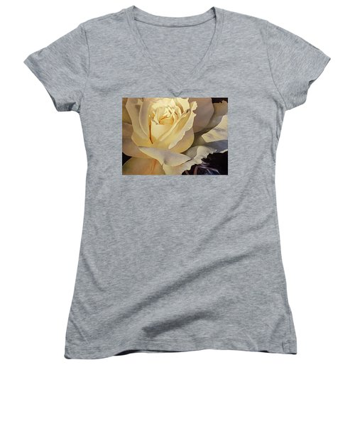 Creamy Rose Women's V-Neck (Athletic Fit)