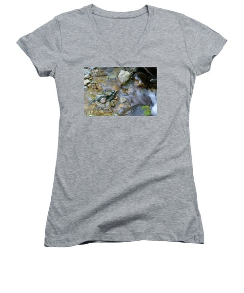 Creek On Mt Tamalpais Women's V-Neck