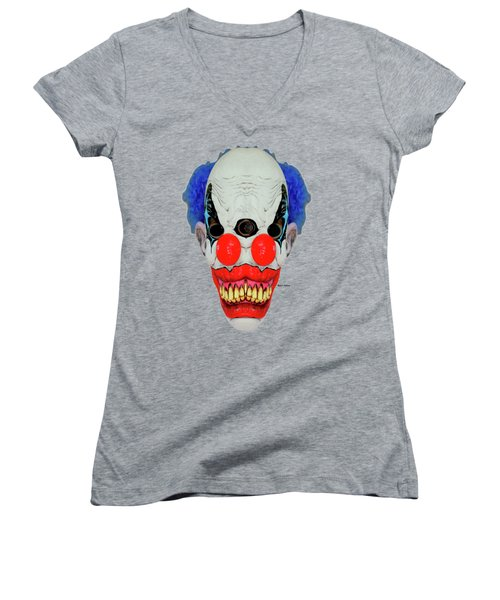 Creepy Clown Women's V-Neck (Athletic Fit)