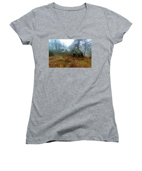 Creepy House Women's V-Neck