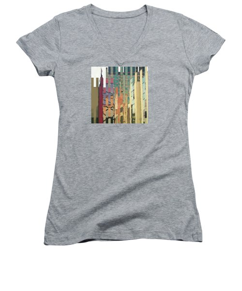 Crenellations Women's V-Neck