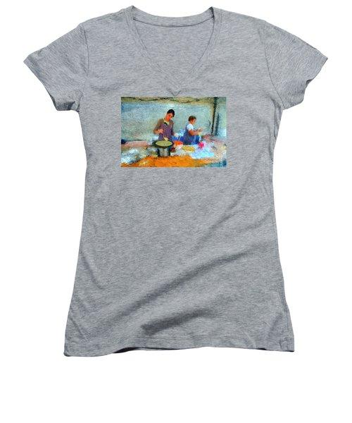 Crepe Makers Women's V-Neck T-Shirt (Junior Cut)
