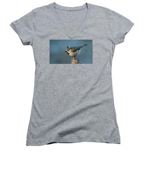 Women's V-Neck T-Shirt (Junior Cut) featuring the photograph Crest by Torbjorn Swenelius