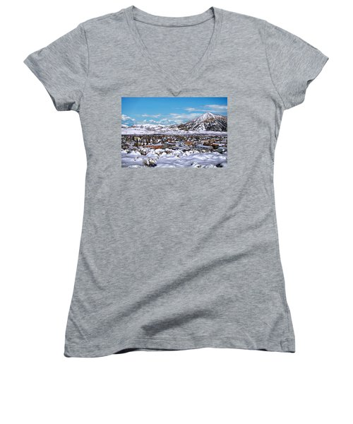 Crested Butte Panorama Women's V-Neck