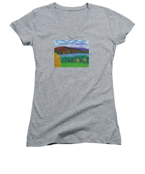 Crisp Kripalu Morning - With Quote Women's V-Neck
