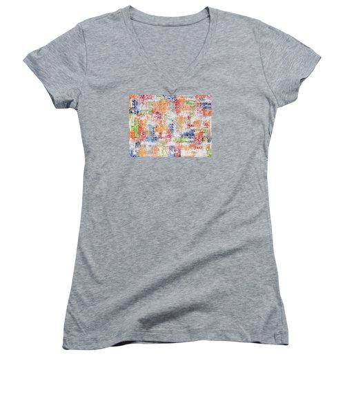 Criss Cross Women's V-Neck T-Shirt (Junior Cut)