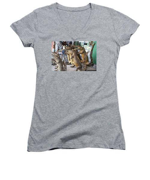 Crocodiles Rock  Women's V-Neck T-Shirt
