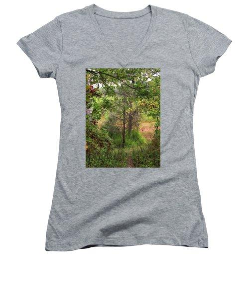 Crooked Creek Woods Women's V-Neck T-Shirt