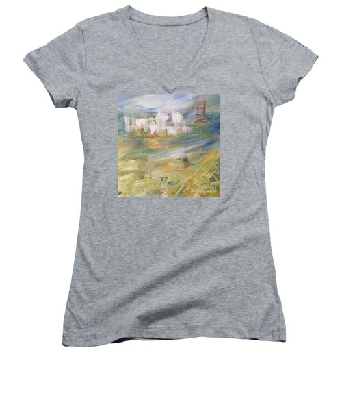 Cross A Bridge And Get Over It Women's V-Neck (Athletic Fit)