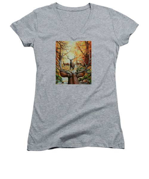 Crossing Paths Women's V-Neck (Athletic Fit)