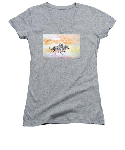 Crossing The River. Women's V-Neck T-Shirt
