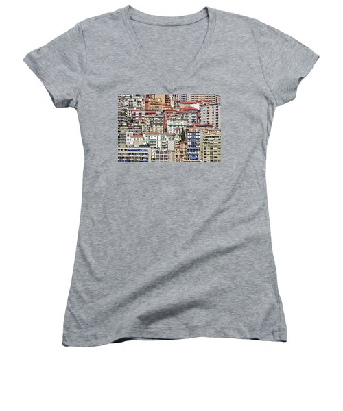 Crowded House Women's V-Neck T-Shirt (Junior Cut) by Keith Armstrong