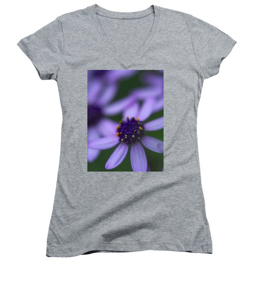 Crowned With Purple Women's V-Neck (Athletic Fit)