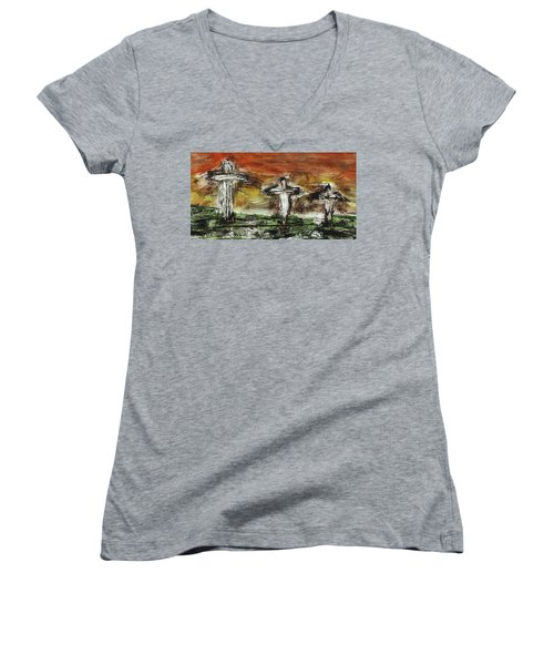 Crucifixion #2 Women's V-Neck