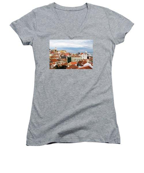 Cruise Ship Peeks Women's V-Neck T-Shirt