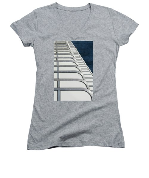Cruise Ship's Balconies Women's V-Neck
