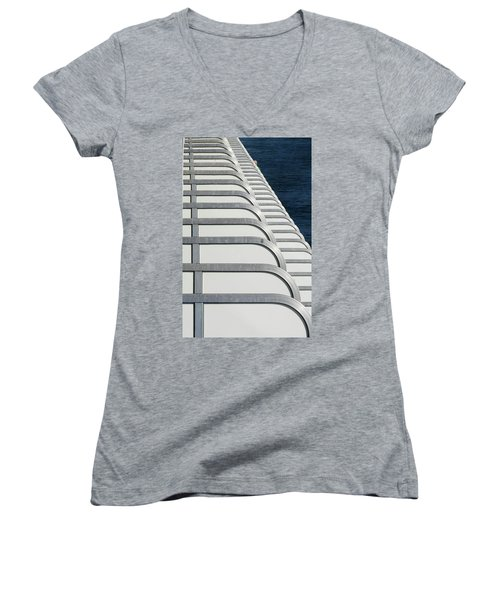 Cruise Ship's Balconies Women's V-Neck (Athletic Fit)