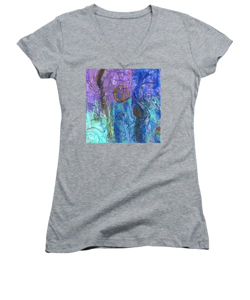 Crusader Women's V-Neck T-Shirt (Junior Cut) by Phil Strang