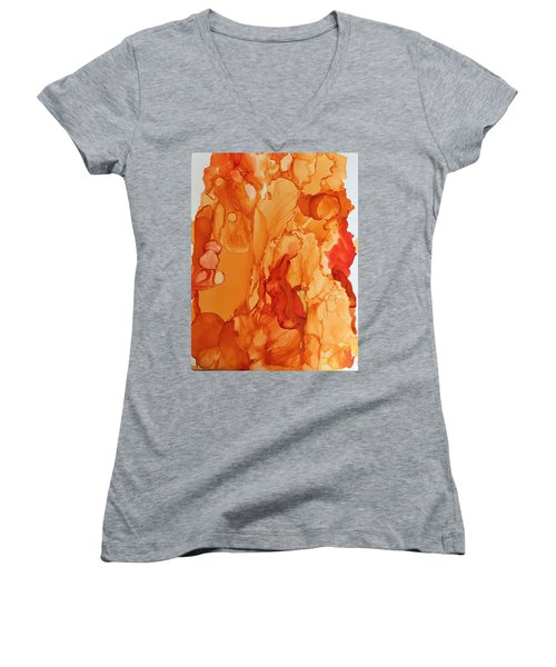 Orange Crush Women's V-Neck (Athletic Fit)