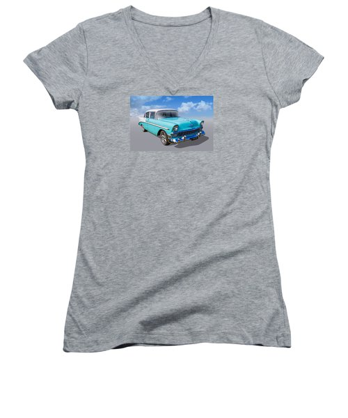 Women's V-Neck T-Shirt (Junior Cut) featuring the photograph Cruzing by Keith Hawley