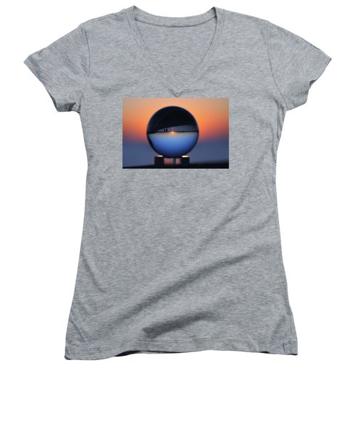 Crystal Ball Blue Hour Women's V-Neck (Athletic Fit)