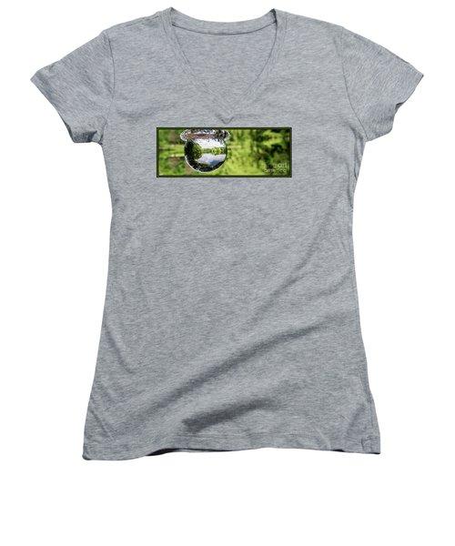Crystalized Drop Women's V-Neck T-Shirt (Junior Cut)