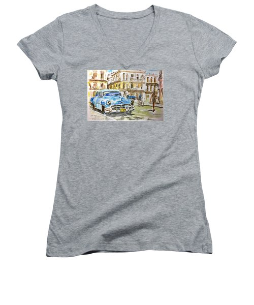 Cuba Today Or 1950 ? Women's V-Neck T-Shirt