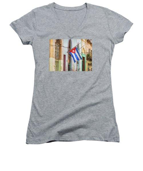 Cuban Pride Women's V-Neck (Athletic Fit)