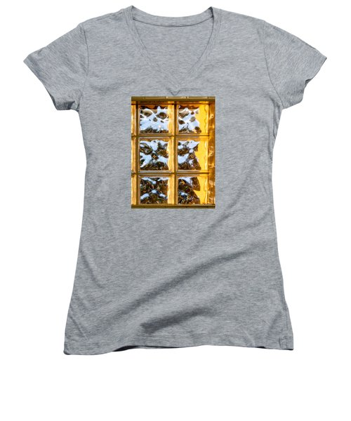 Women's V-Neck T-Shirt (Junior Cut) featuring the photograph Cubed Sunset by Christopher Holmes