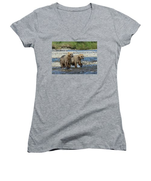 Cubs On The Prowl Women's V-Neck