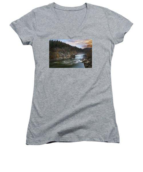 Cumberlland Falls Women's V-Neck T-Shirt