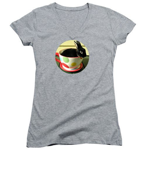 Cup O Bun T Shirt Women's V-Neck T-Shirt